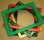 Grün eloxierte Siebdruckrahmen