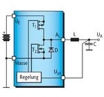 Abwärts-Schaltregler-IC mit zwei integrierten Leistungstransitoren