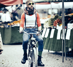 Airbag-Fahrradhelm - ein Mode-Accessoire?