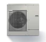 Das bodenstehende Außenmodul ist in den Leistungsgrößen 7,5 kW, 10 kW und 12 kW erhältlich.