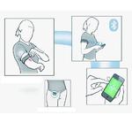 Bild 5: Das Komplettsystem mit im Oberarm implantiertem Sensor, Armbinde und Datenübertragung per Bluetooth an ein Smartphone