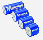 Bild 1: Doppelschichtkondensatoren wie die von Maxwell können elektrische Energie effizient speichern und lassen sich schnell auf- und entladen