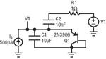 Bild 3: Die bei der Simulation der kapazitiven Kopplung verwendete Schaltung