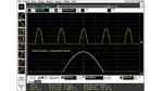 In diesem Beispiel eines DSO Agilent Infiniium 9104A mit einer Dynamikbereichs-Einstellung von ±8 Teilstrichen verschob der Anwender das Signal um vier Teilungen aus der Mitte