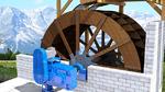 Wasserkraft versorgt Alpenhütte