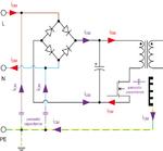 Bild 1: Störströme am Schaltnetzteileingang (iDM: Gegentaktströme (Differential Mode Currents); iCM: Gleichtaktströme (Common Mode Currents))