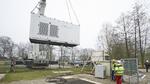 Elektrolyseur für Power-to-Gas-Anlage installiert
