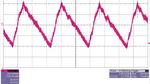 Bild 9: Oszillogramm des Wechselspannungsanteils am Eingang des Power-Moduls