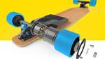 Skateboard fährt 40 km/h dank Elektroantrieb