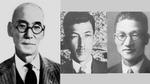 1915: Dr. Tamisuke Yokogawa (l.), Architekt und Bauingenieur, gründet zusammen mit seinem Neffen Ichiro Yokogawa (m.) und dem 26-jährigen Shin Aoki (r.) ein Forschungsinstitut für Stromzähler im japanischen Shibuya. Ziel der Pioniere ist es, Japans e