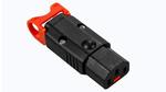 Wiederanschließbarer C13 IEC-Steckverbinder mit Verriegelung