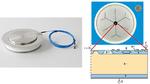 Lichtgezündeter 6-Zoll-Thyristor (LTT; links im Bild) mit integrierten Schutzfunktionen