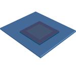 Bild 1: Aufbau eines umgekehrten Totmannschalters: Glasoberfläche in transparentem Blau, darunter in Gold die Innensensorik, die von der äußeren Sensorik eingefasst wird