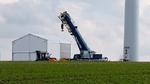 Mobile Halle für die Vor-Ort-Reparatur von Windkraftanlagen