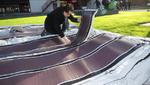 Dünnste Solarmodule sorgen für die nachhaltige Stromversorgung im Zelt