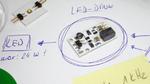 Mikrocontroller mit Leuchte verdrahten