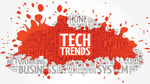 Tech Trends word cloud collage, business concept background