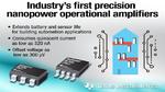 Erster Präzisions-Operationsverstärker in Nanopower-Technik