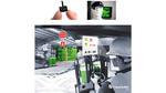 Bild 1: Links oben: ULP-Display UUGL1120. Rechts oben: Head-mounted ULP-Display (Eval-Kit 2). Unten: Anwendungsszenario.