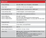 Tabelle 1: Die wichtigsten technischen Daten des BiMi-Eval-Kits.