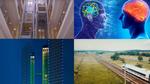 Digitaler Zwilling, schlaue Roboter und Aufzug mit KI