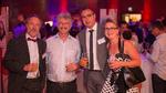 Electronic Assemblys Geschäftsführer Stefan Eber zusammen mit Prof. Dr. Karlheinz Blankenbach, Vorsitzender des Deutschen Flachdisplay Forums und dem ADKOM-Geschäftsführer Jochen Frey mit seiner Frau Marion.
