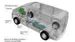 Schematische Darstellung Ford Transit Custom Plug-In Hybrid