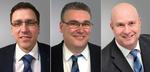 Marco Förster, Michael Kleen und Rainer Schütz (v.l.) sind seit dem 1. Januar 2018 neue Gebietsverkaufsleiter in drei Regionen Deutschlands.