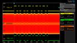 Schirmbild eines Oszillographen mit den per Wireless-Power-Design-Kit von Würth Elektronik eiSos übertragenen Daten.