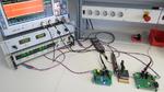 Das Wireless Power Design Kit 200 W von Würth Elektronik eiSos im Testbetrieb.