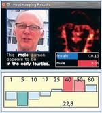 Geschlechts- u. Altersbestimmung durch ein künstliches neuronales Netz. Der Score für die Altersklassifizierung