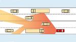 Auf Autobahnen können Lkw die Kommunikation behindern. Durch andere Einbaupositionen der Antennen im Fahrzeug kann sich die Reichweite ändern