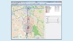 Die Software des Feldstärkeemulators bildet Verkehrssituationen ab und berechnet hieraus unter Berücksichtigung von Wellenausbreitungsmodellen und Antennencharakteristika die Signalstärke zwischen den Verkehrsteilnehmern
