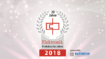 Die Gewinner des Jahres in der Rubrik »Elektromechanik«