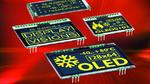 OLED-Displays mit Pins für schnelle Montage