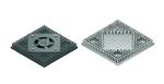 """Bild 3. Die Bohrungen und Abmessungen für den Kühlkörper waren vorgegeben; a) zeigt die Lösung mit integrierten Lüfter, während b) den """"nackten"""" Kühlkörper abbildet."""