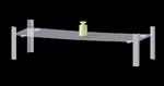 Wireless and autonomous embedded  digital strain sensor