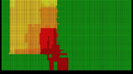 Tempertaurbereiche in farblicher Darstellung auf einem Chip