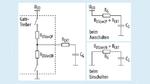 RC-Schaltungsmodell für einen Gate-Treiber mit MOSFET-Ausgangsstufe und Leistungsbauteil als Kondensator
