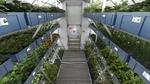 Kennedy Space Center: Bodenforschungsstation der NASA mit Osram-Forschungsleuchte.