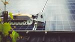 Reinigungsroboter erhöht die PV-Effizienz