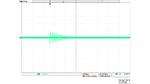 Bildschirmfoto eines Oszilloskops mit der Darstellung einer sehr stark gedämpften Schwingung.