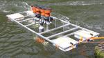 Eines der ersten Testsysteme des CeSMa schwimmt im Wasser. Es gibt aber auch fest montierte Versuchssysteme.