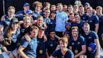 Das Gewinnerteam der 'Hyperloop Pod Competition' 2018