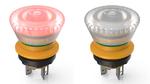 Der neue, aktive/inaktive Not-Halt-Taster aus der Serie »Lumotast 16« ist nur bei ordnungsgemäßer Verbindung als sicherheitsgerichtetes Gerät erkennbar.