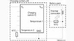 Bild 1. Prinzipschaltbild einer Ladeüberwachung mit NTC-Thermistoren. Es kommen zwei NTC-Thermistoren zum Einsatz, mit denen sich extreme Temperaturunterschiede zwischen der Umgebung und dem Akku verhindern lassen.