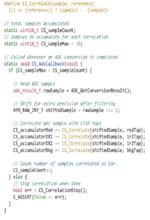 Bild 5. Code-Beispiel für die Korrelation.