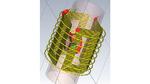 Durch ausgeklügelte Formgebung der Ladespulen wird in jeder Ausrichtung eine Spannung induziert