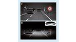 Die Verkehrssituation (a) ist durch das Sichtfeld mit herkömmlichem Abblendlicht stark eingeschränkt (b).