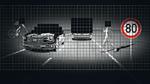 Verkehrssituation, die mit einer hochauflösenden Pixel-Array- Lichtquelle beleuchtet